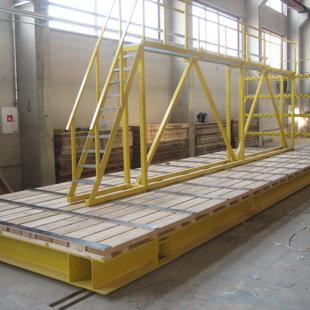 Vagonete betona paneļu transportēšnai nestspēja 60T